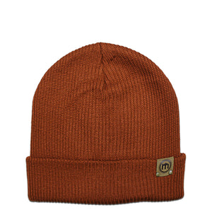 Rust Adjustable Cuffed Beanie