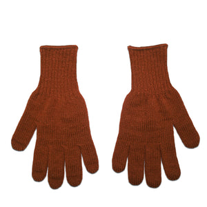Rust Acrylic Knit Gloves