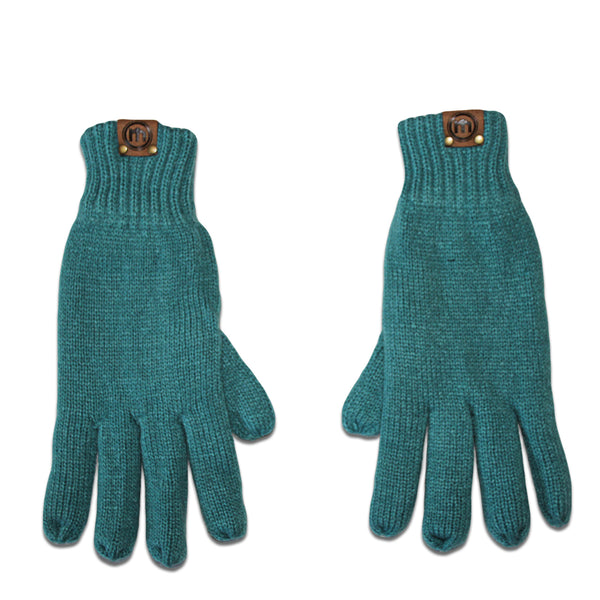 Teal Insulated Knit Gloves