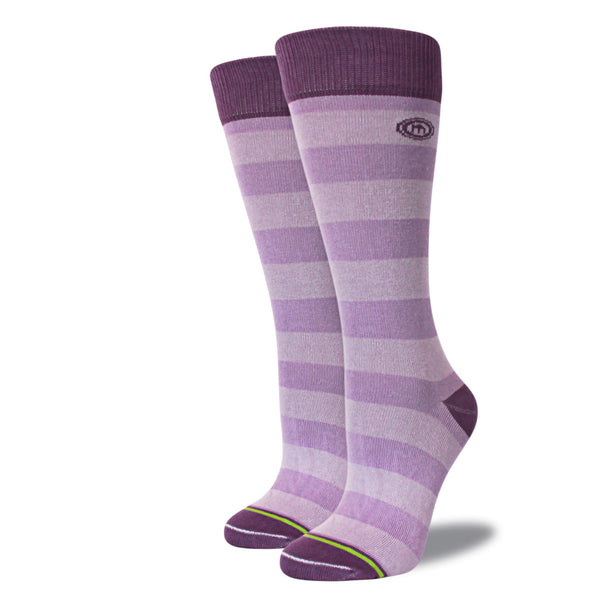 The Alise womens purple striped socks
