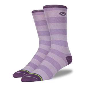 The Alise mens purple striped socks