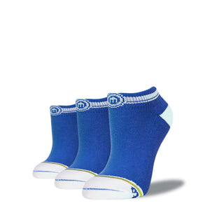 The Casey - Women's Blue Low Cut Socks 3-Pack