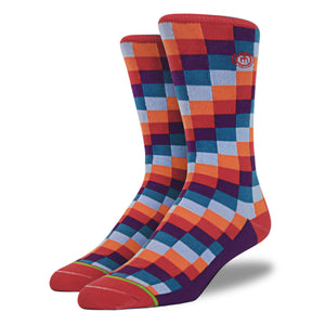 The Colton mens digital block socks