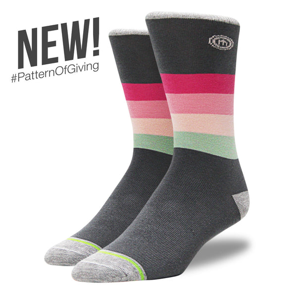 The Ella - Men's Pink Striped Socks