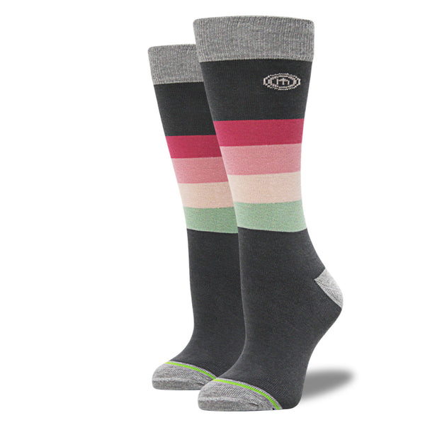 The Ella - Women's Pink Striped Socks