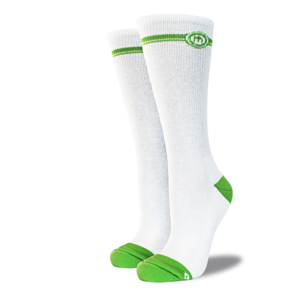 The Ellis womens white crew cut socks