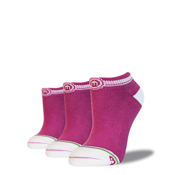 The Gabriela womens pink low cut socks 3 pack