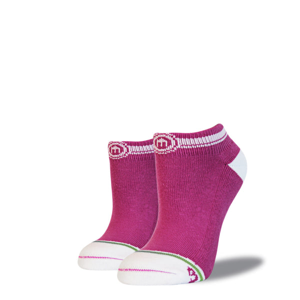 The Gabriela womens pink low cut socks
