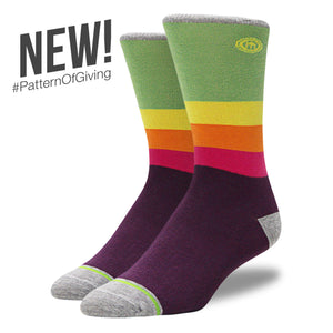 The Joy - Men's Rainbow Striped Socks