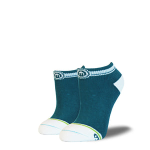 The Kim womens teal low cut socks