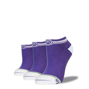 The Lex - Women's Purple Low Cut Socks 3-Pack