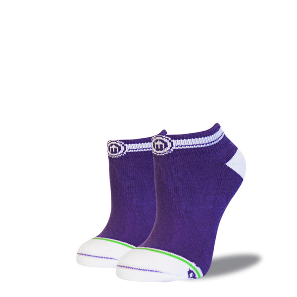 The Lex womens purple low cut socks