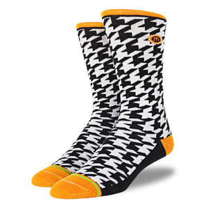 The Mac mens houndstooth socks