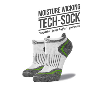 The Margaret womens white low cut performance socks