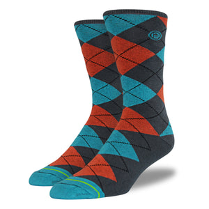 The Mike mens argyle socks