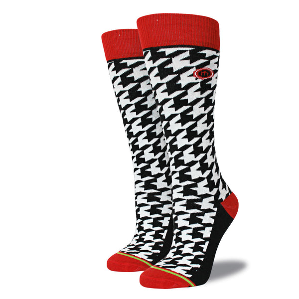 The Sam womens houndstooth socks