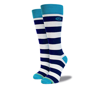 The Stine womens navy striped socks