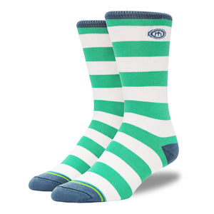 The Valorie - Men's Teal Striped Socks