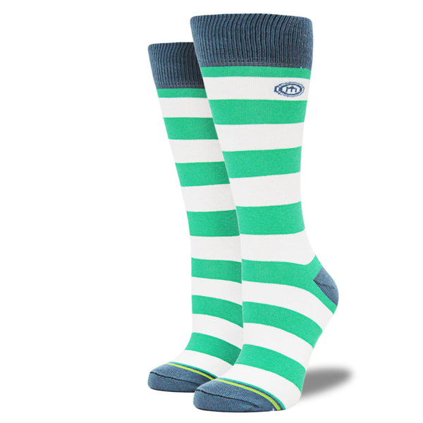 The Valorie - Women's Teal Striped Socks