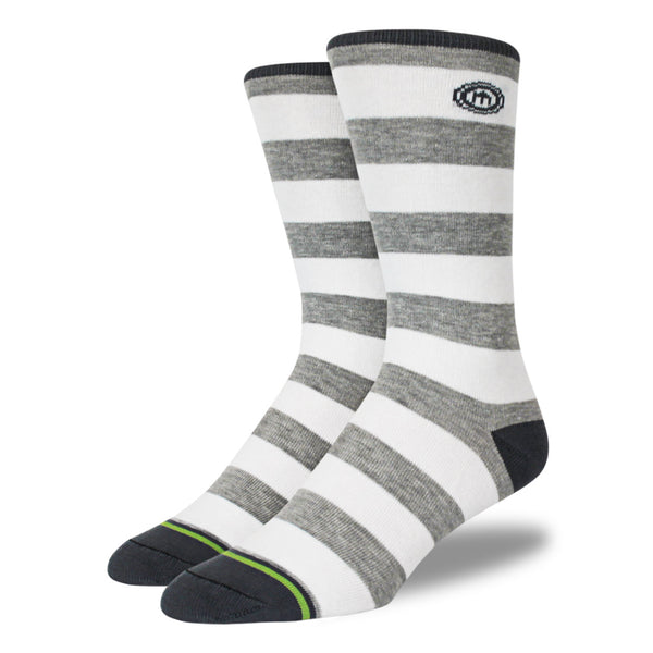 The Zach mens gray striped socks