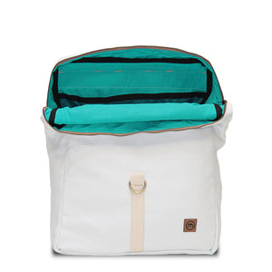 White Traveler Backpack