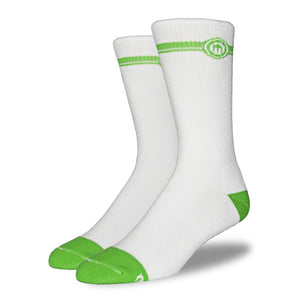 The Ellis mens white crew cut socks