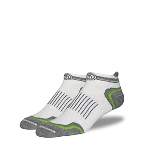 The Margaret - Men's White Low Cut Performance Socks