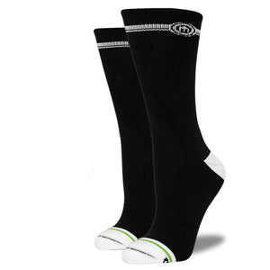 Women's Black Crew Cut Socks