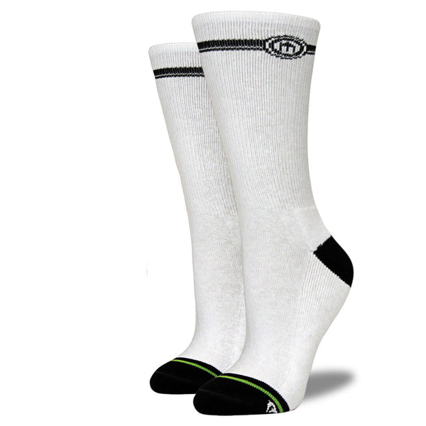 Women's White Crew Cut Socks