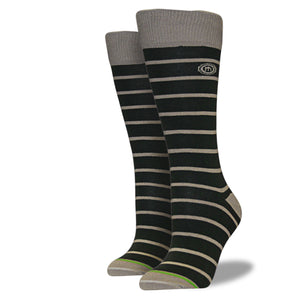 Women's Army Green Striped Socks