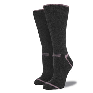 Women's Wool Blend Socks: Graphite