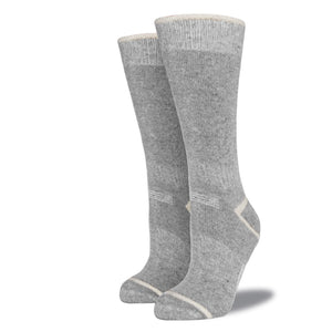 Women's Wool Blend Socks: Heather Gray