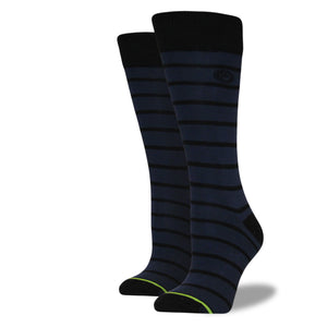 Women's Navy Striped Socks