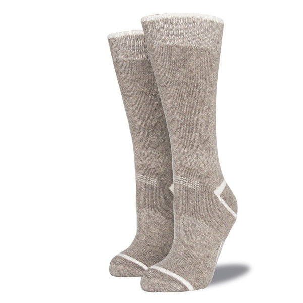 Women's Wool Blend Socks: Heather Beige