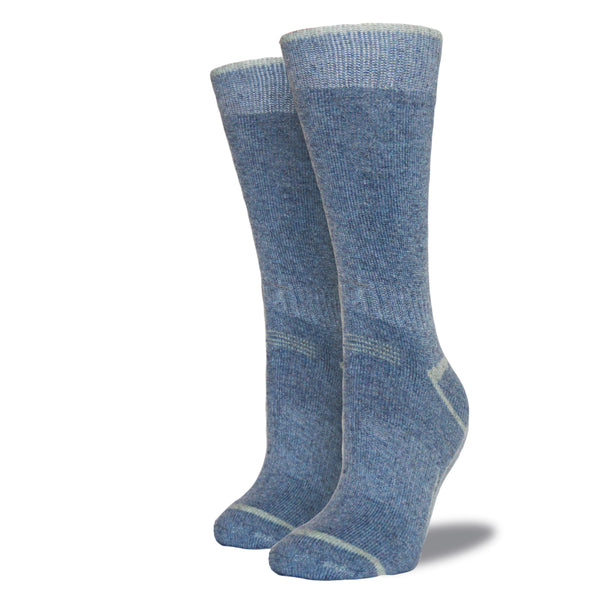 Women's Wool Blend Socks: Sky Blue