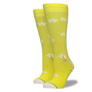 Women's Yellow Floral Socks