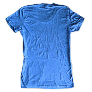 Sky blue vintage t shirts womens