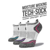 Women's White Low Cut Performance Socks 3-Pack