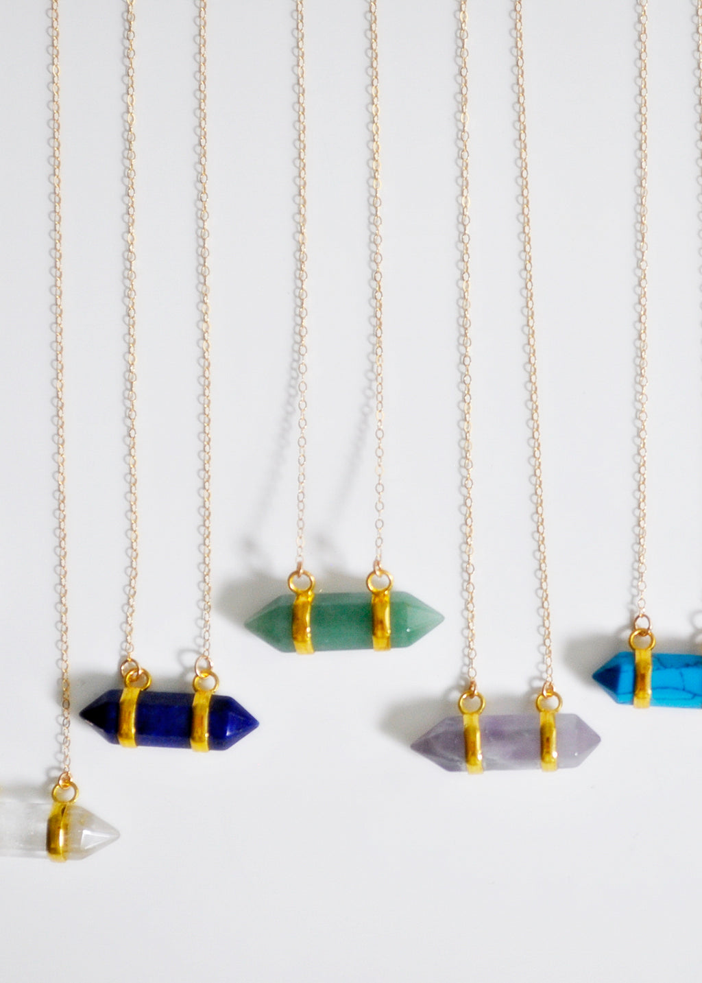 Gemstone Suspended Necklace