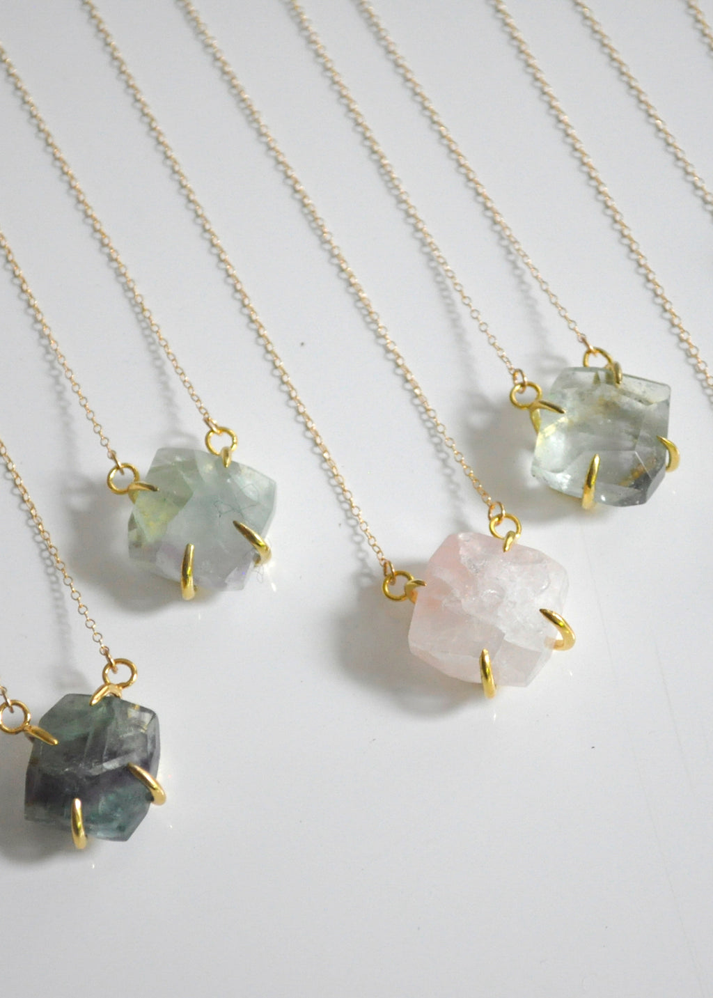 Faceted gemstone necklace