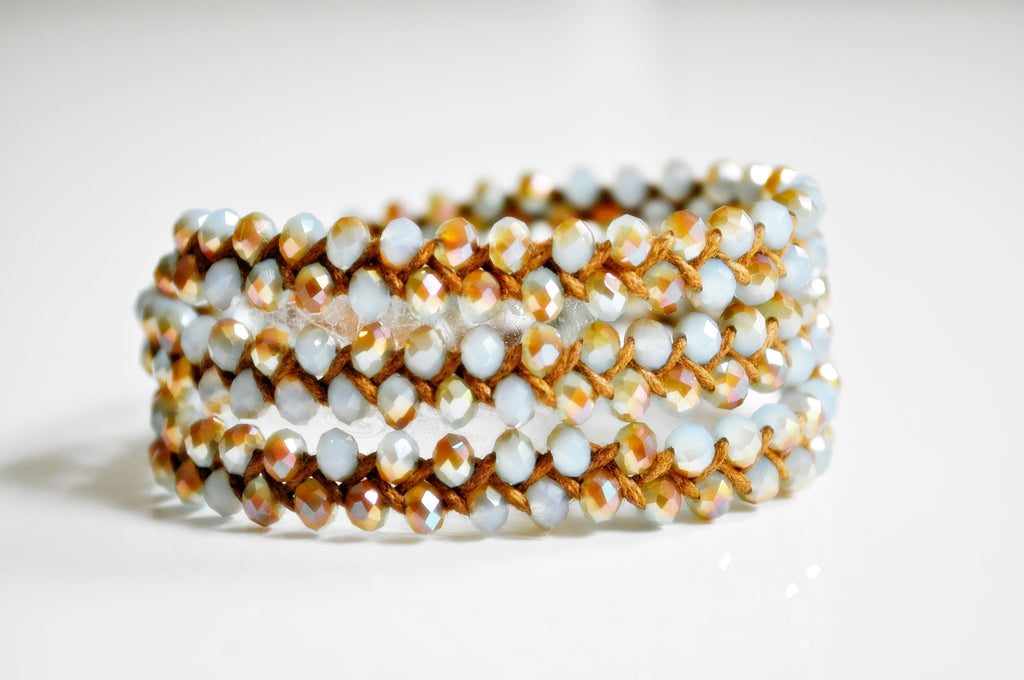 Golden & blue Crystal Bracelet
