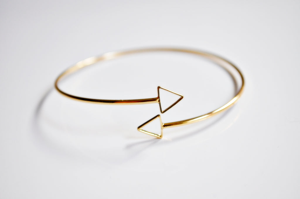 Triangle open Bangle