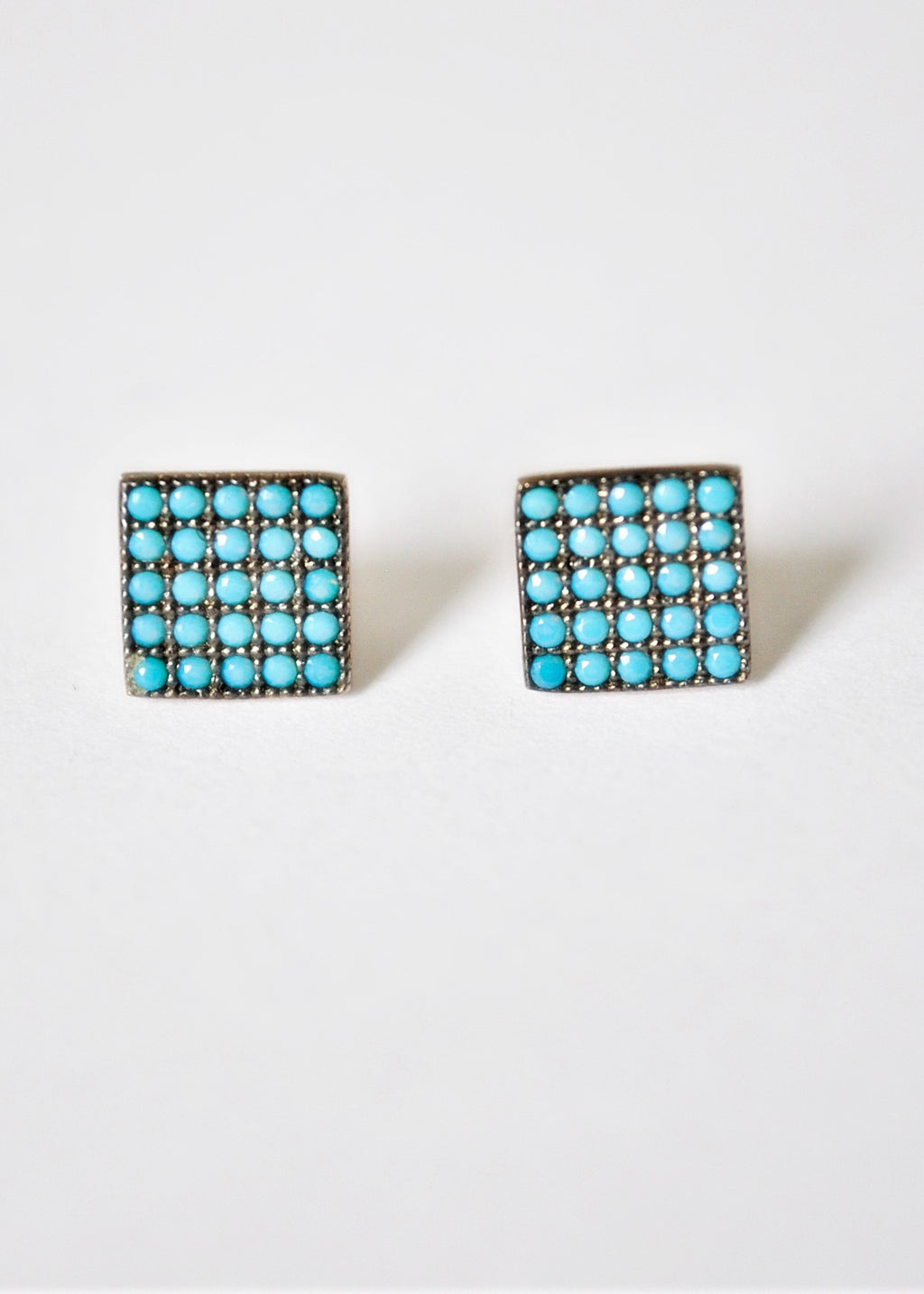 Turquoise Square Earrings