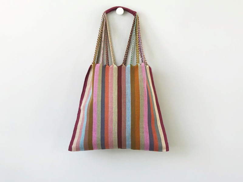 Sand striped hammock bag