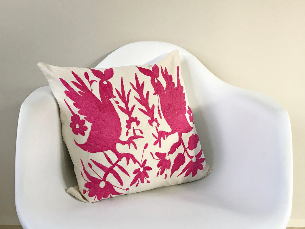 Pink Tenango Pillow