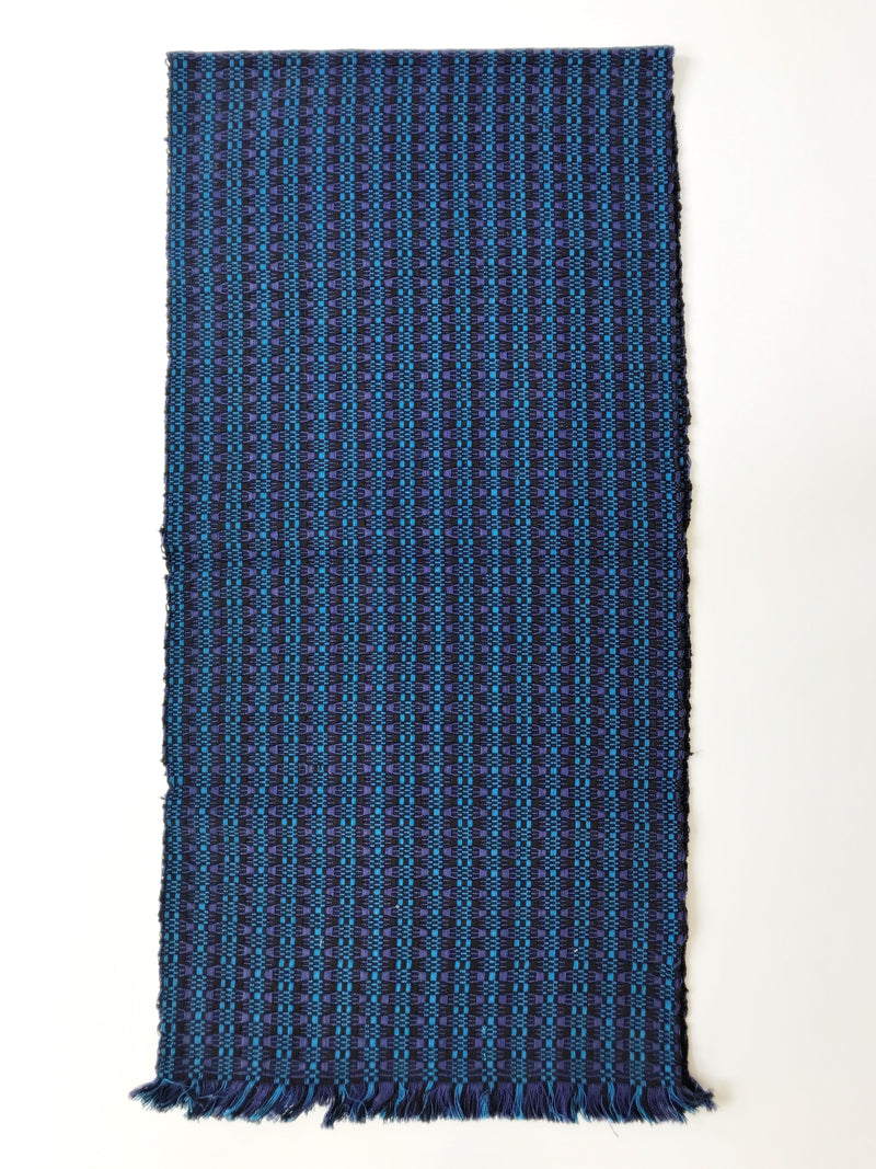 Weaved black & blue table runner