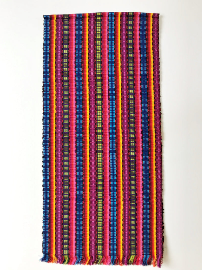 Weaved multi color table runner