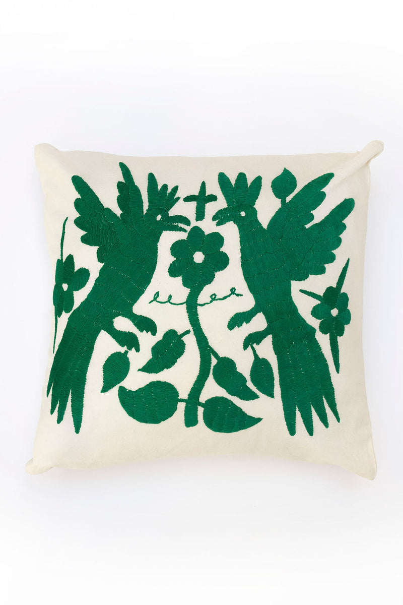 Green Tenango Pillow
