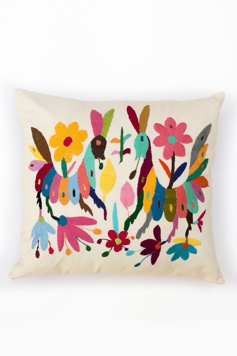 Multicolor Tenango Pillow