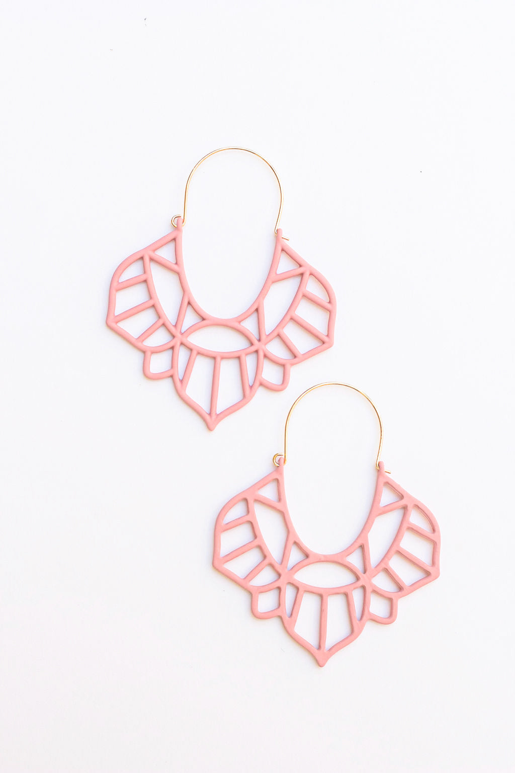 Pink hoop earrings